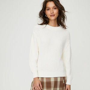 EUC Aritzia Wilfred Chenille Salette Sweater Ivory